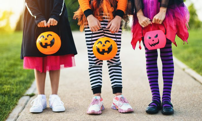 girls trick or treating